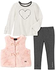 Calvin Klein Baby Girls 3 Pieces Vest Pants Set