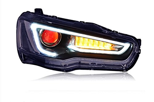 GOWE Car Styling Head Lamp for LANCER Headlights LED Headlight ANGEL EYES BEAM DRL Bi-Xenon Lens HID Automobile Accessories Color Temperature:5000K Wattage:35W 0