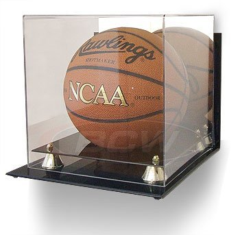 BCW Deluxe Acrylic Basketball Display - With Mirror & Wall Mount - Basketball - Sports Memoriablia Display Case (Soccer / Volley Balls) by BCW