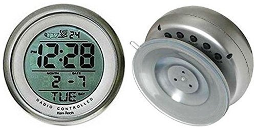 Ken-Tech Sonnet T-4660 Water Resistant Suction Cup Atomic Clock