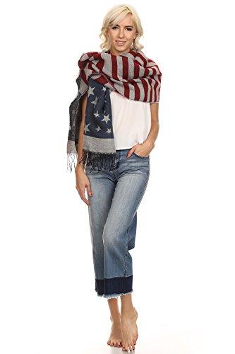 MeshMe Womens Delilah - Blue Stone Wash Frayed Wide Leg Color Block Denim Jeans
