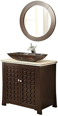 30 Giovanni Vessel Sink Bathroom Sink Vanity with Matching Mirror – Model HF339A