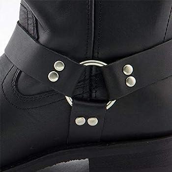 11 Xelement 1442 Classic Mens Black Harness Motorcycle Biker Boots