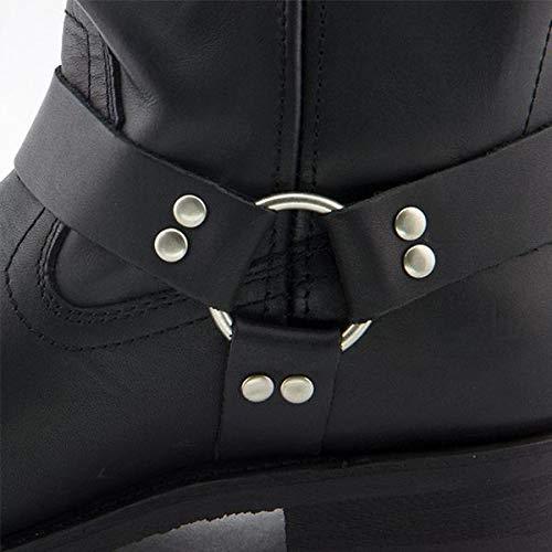 Xelement 1442 Classic Mens Black Harness Motorcycle Biker Boots 10.5 EE