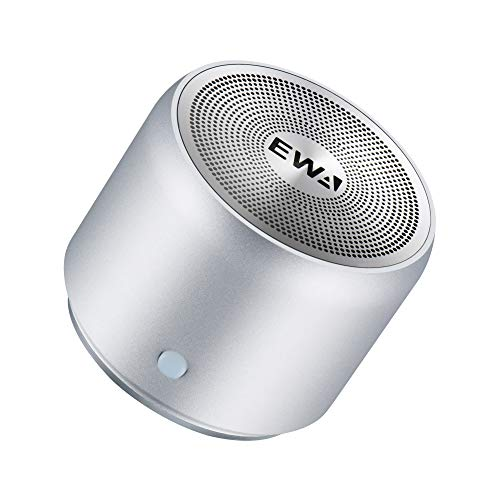 EWA A106 Portable Mini Bluetooth Speaker, Enhanced Bass and High Definition Sound, Portable Design, for iPhone, iPad,Nexus,Laptops and More (Silver) by Ewa