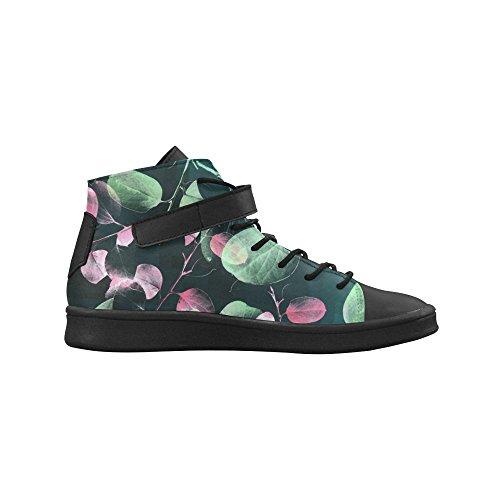 Artsadd Gröna Rosa Blad Rund Tå Kvinnor Skor Ökar Sneaker