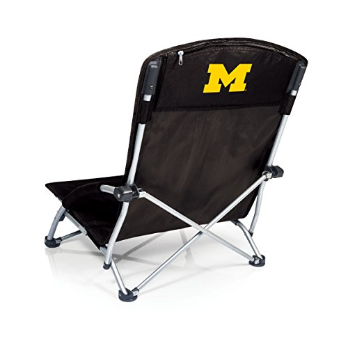 PICNIC TIME NCAA Michigan Wolverines Tranquility Portable Folding Beach Chair, Black