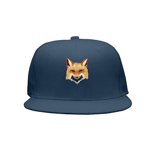 (Fox Painting Drawing Art Unisex Classic Mesh Back Plain Caps Snapback Hat)