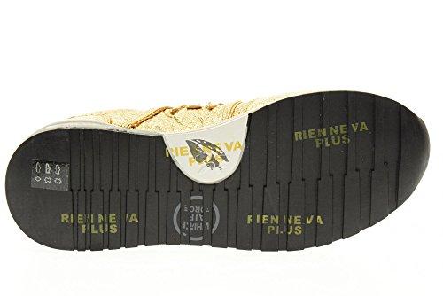 PREMIATA las mujeres bajas zapatillas de deporte 1900 DIANE talla 39 Oro