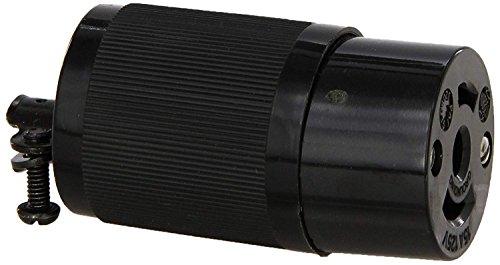 Hubbell HBL7593 Locking Connector, Midget, 15 amp, 125V, Ml-2R ()