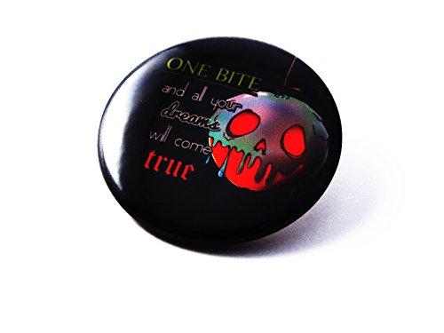 (Villains Fan Art Flair Button | Pin Collection - 1.5 inch Pin Back Button (Snow White Evil Queen))
