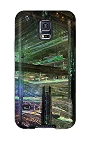 S5 Scratch-proof Protection Case Cover For Galaxy/ Hot Cityscape Sci Fi Phone Case