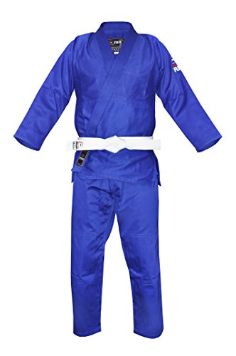 FUJI Single Weave Judo GI, Blue, 4