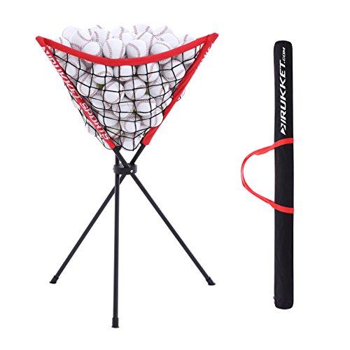 Rukket Baseball / Softball Ball Caddy | Portable Batting Practice Ball Holder