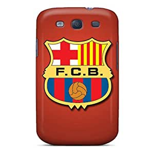 Shock Absorbent Hard Phone Covers For Samsung Galaxy S3 With Unique Design HD Fc Barcelona Skin JonBradica