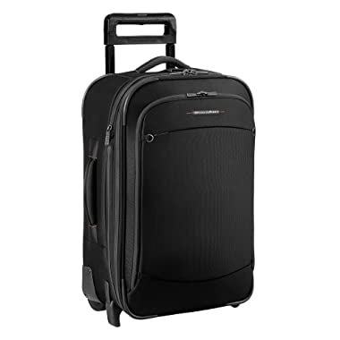 Briggs & Riley Luggage 22 Inch Carry On Expandable Upright Bag, Black, 22