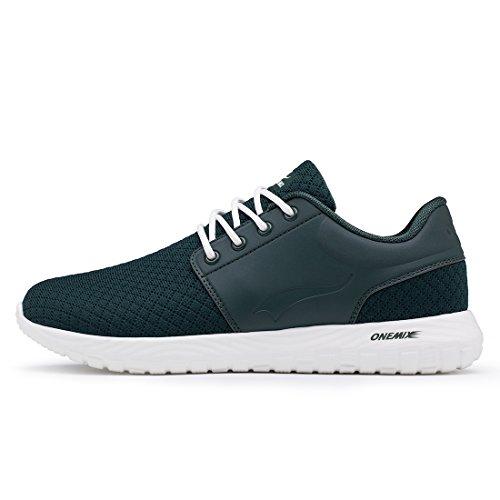 Soft Straßenlaufschuhe Laufschuhe Sneaker Dunkelgrün Damen Sportschuhe Herren onemix Atmungsaktiver Leichte ZIRwqw