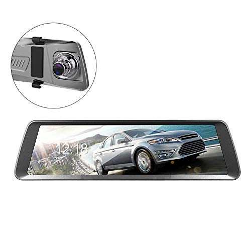 Dash Cam Mirror Car Camera Touch Screen Backup Camera T90 1080P 6G 9.88 Inch Touch Screen Dual Lens Car Camera HD Mobile Speed Measurement Starlight Video Collision Lock Touch Dual-Lens Full-Screen