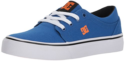 DC Boys' Trase TX Skate Shoe, Blue/White/Orange, 6 M M US Big Kid