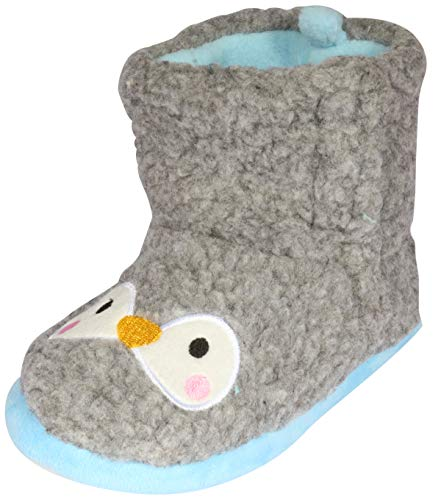- dELiA*s Girls Animal Sherpa Slippers Boots, Penguin, 11-12 M US Little Kid'