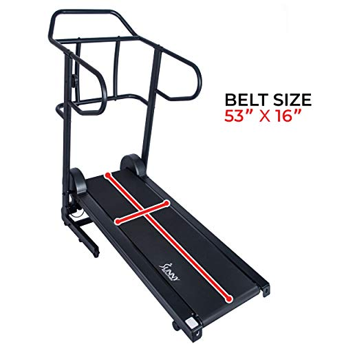 Sunny Health & Fitness Force Fitmill Manual Treadmill with 16 Levels of Magnetic Resistance, 300 LB Max Weight and Dual Flywheels - SF-T7723