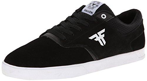 Fallen The Vibe Genuine Skate Shoe,Black/White,10.5 M US