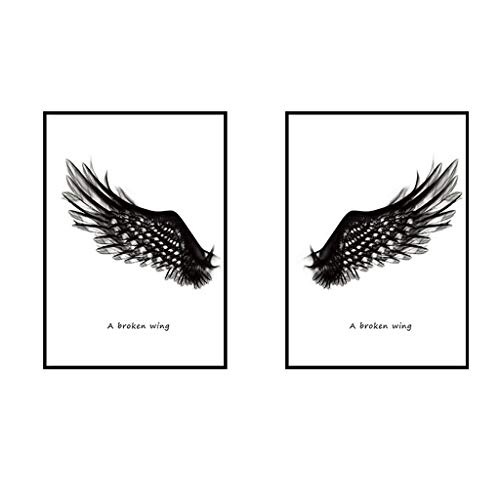 - Wall Stickers - 3D Joint Painting Black Angel Wings DIY Art Decor Crafts for Nursery Classroom Offices Kids Girl Boy Baby Bedroom Bathroom Living Room Magnets and Glue Sticker Set