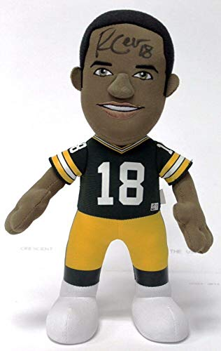 Randall Cobb Autographed Signed Autograph 12 NFL Plush Doll Green Bay Packers With JSA Authentic Witnessed Coa