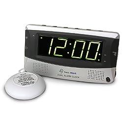 Sonic Alert SBD375SSEU/USA Sonic Boom Dual Alarm Vibrating Alarm Clock