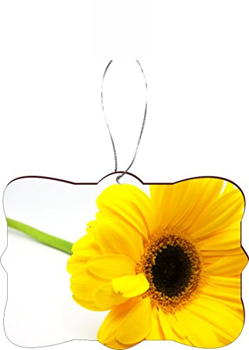Rikki Knight Christmas Tree Ornament/Car Rear View Mirror Hanger Yellow Sunflower Close-Up Macro Design