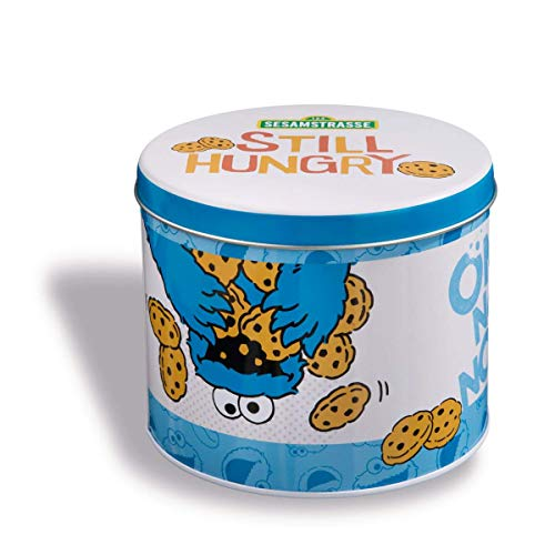 NICI Biscuit Tin Metal Krümmel Monster 13,5x11 41980