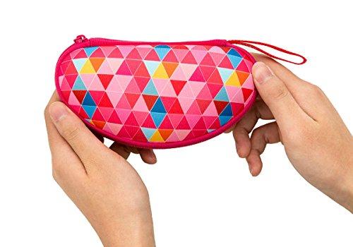 ZIPIT Colorz Box Glasses Case, Pink Triangles Photo #2