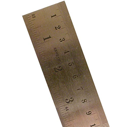 Pacific Arc Stainless Steel Rulers Inch/Metric with Conversion Table 36 in.