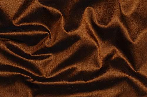 Puresilks 100% Silk Taffeta Fabric 54~Orange x Black=Brick Brown Color TAF 19[1] by The Yard (Taffeta Curtains Silk Pink)