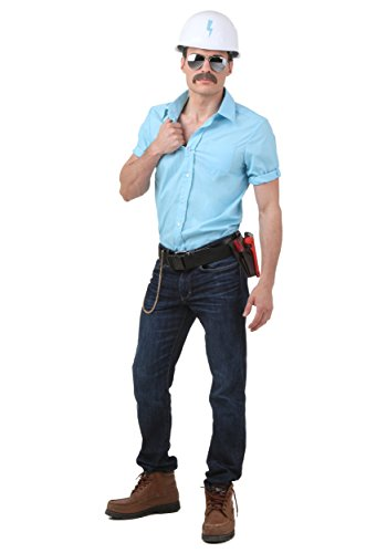 [Fun Costumes Mens Village People Construction Worker Costume Medium] (Man Construction Worker Costume)
