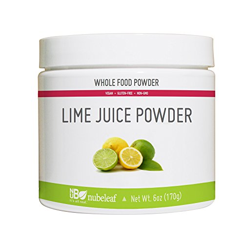 Nubeleaf Lime Juice Powder - Non-GMO, Gluten-Free, Raw, Vegan Source of Antioxidants & Vitamin C - Single-Ingredient Nutrient Rich Superfood for Cooking, Baking, Smoothies (6oz)