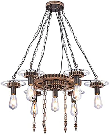 Retro E27 Ceiling Chandelier Light Modern Vintage Industrial Metal Pendant Lamp