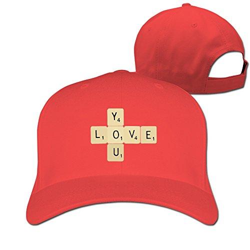 Elements Flex Hat - Unisex LunaCpt Love You Chemical Elements Design Hat Red One Size