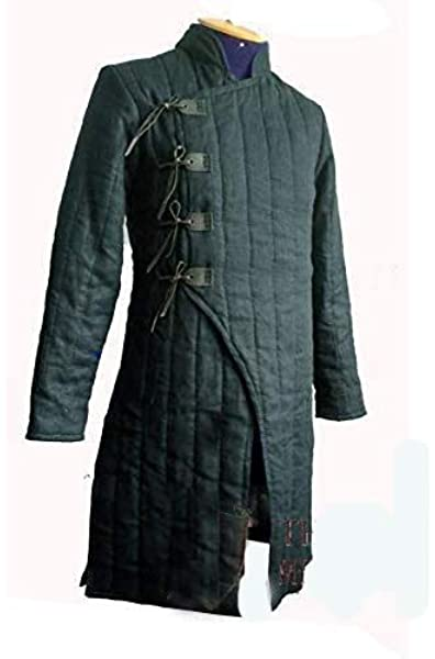 Details about  /Halloween Gift Thick camel long Armor Gambeson Medieval Padded play half sleeve