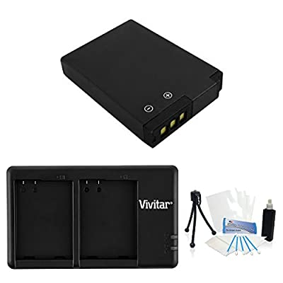 EN-EL12 High-Capacity Replacement Battery with Rapid USB Dual Charger for Select Nikon Coolpix Cameras. UltraPro Bundle Includes: Camera Cleaning Kit, Screen Protector, Mini Travel Tripod