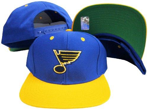 (St. Louis Blues Blue/Yellow Two Tone Snapback Adjustable Plastic Snap Back Hat/Cap)
