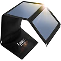Favson 25W Travel Solar Charger with High Efficiency Sunpower Panels for 5V USB Devices