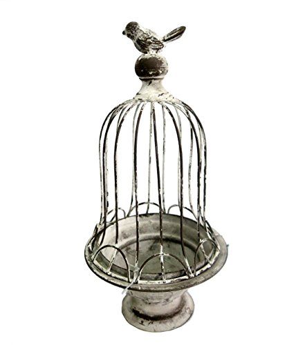 Decorative Victorian Style Gray Bird Cage