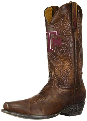 - NCAA Texas A&M Aggies Men's Board Room Style Boots, Brass, 11 D (M) US