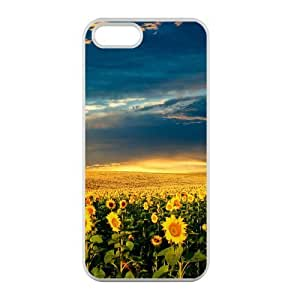 Welcome!Iphone 5/5S Cases-Brand New Design Beautiful Sunflower Printed High Quality TPU For Iphone 5/5S 4 Inch -05