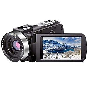 Flashandfocus.com 414Q1iGPfZL._SS300_ Video Camera Camcorder Full HD 1080P 30FPS 24.0 MP IR Night Vision Vlogging Camera Recorder 3.0 Inch IPS Screen 16X Zoom…