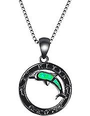 Ketting Europese en Amerikaanse populaire sieraden dolfijn ketting cirkel hanger