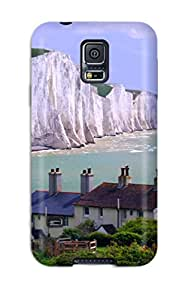 Awesome Design Whitewashed Cliff Hard Case Cover For Galaxy S5