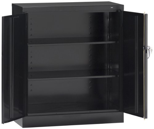 - Tennsco 4218 24 Gauge Steel Standard Welded Counter High Cabinet, 2 Shelves, 150 lbs Capacity per Shelf, 36