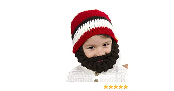 ad9ae2e4c48 Amazon.com   Medium Beard Beanie - Red Lumberjack Beard Hat for Toddlers  and Kids. Soft Stretchable Beard Beanie Hat Circumference Is 41cm or 16  Inches.
